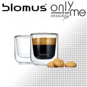 Комплект двустенни стъклени чаши за еспресо NERO BLOMUS - 80 ml