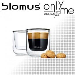 Комплект двустенни стъклени чаши за еспресо NERO BLOMUS 63652  - 80 ml