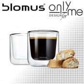 Комплект двустенни стъклени чаши за кафе NERO BLOMUS - 200 ml
