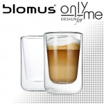 Комплект двустенни стъклени чаши за капучино или чай NERO BLOMUS - 250 ml