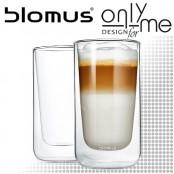Комплект двустенни стъклени чаши за лате NERO BLOMUS - 320 ml