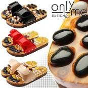 Масажни чехли за рефлексотерапия с естествени камъни CASADA - №35-36