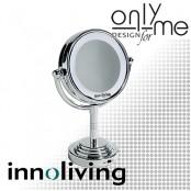 Двустранно козметично огледало с LED подсветка INNOLIVING