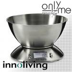 Електронна кухненска везна с купа INOX INNOLIVING - до 5 кг