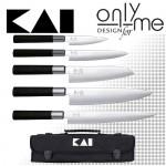Комплект ножове с чанта WASABI KAI