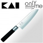 Универсален кухненски нож Santoku WASABI KAI - 16,5см