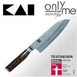 Универсален кухненски нож Santoku Shun Premier KAI - 18см