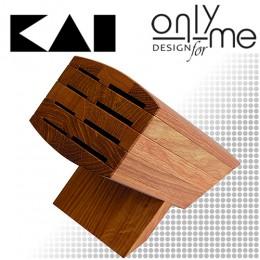 Дървена стойка за 8 броя ножове KAI 6600-BN