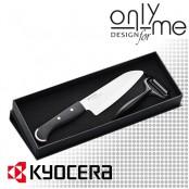 Комплект керамичен нож с белачка KYOCERA