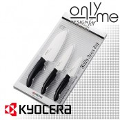 Комплект 3 броя кухненски керамични ножа KYOCERA