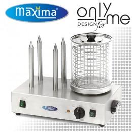 Професионалнана електрическа машина за хот-дог с 4 шиша Maxima 09300585