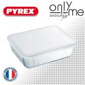 Правоъгълна кутия от боросиликатно стъкло с капак Cook&Freez PYREX - 2,6 L