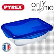 Правоъгълна кутия от боросиликатно стъкло с капак Cook&Go PYREX - 1,7 L