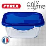 Квадратна кутия от боросиликатно стъкло с капак Cook&Go PYREX - 1,9 L
