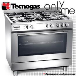 Готварска печка с голяма фурна и 5 газови котлона TECNOGAS S965MX