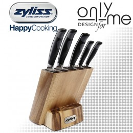 Комплект 5 броя ножове и дървен блок ZYLISS 920186