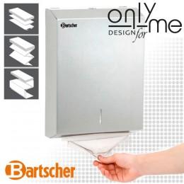 Диспенсър за хартиени кърпи за ръце за монтаж на стена от неръждаема стомана.