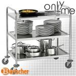 Сервитьорска количка с вграден индукционен котлон