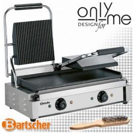 Контактен грил - притискателна скара - сандвич тостер с гладка и оребрена плоча Panini A150673