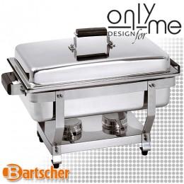 Chafing Dish GN 1/1 - 65 mm - Oтоплител с дървени дръжки за поддържане на топла храна