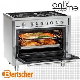 Готварска печка с голяма фурна и 5 газови котлона