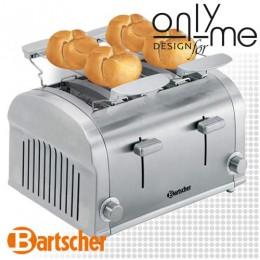Комбиниран тостер с 4 гнезда за 4 филийки или 4 хлебчета