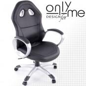 Директорски стол кожа черно